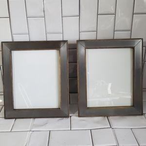 Lot of 2 Metal/Wood Photo Frames Rustic 10inx12in